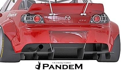 【M's】マツダ RX-8 後期 SE3P (2008y-2012y) PANDEM リアディフューザー//MAZDA RX8 FRP TRA京都 パンデム エアロ リヤディフューザー_画像2