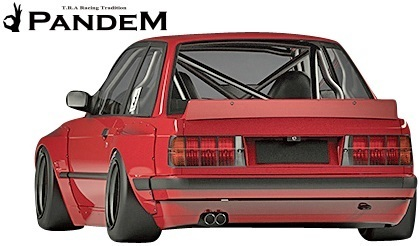 【M's】パンデム BMW E30 3シリーズ (2Dクーペ) PANDEM ワイドボディキット 5点 (FL+FF+RF+S+W)//FRP製 TRA京都 エアロ ワイドフェンダー_画像4