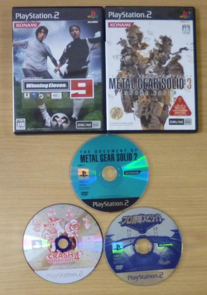 3725 PlayStation2 KONAMI コナミ 5タイトル METALGEARSOLID クラッシュバンディクー_画像1