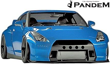 【M's】ニッサン R35 GT-R PANDEM ワイドボディキット 9点 (ダックテールウイング仕様)/CARBON カーボン TRA京都 パンデム フルキット_画像1