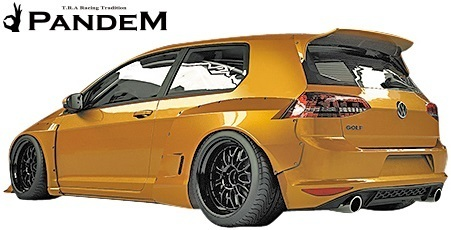 【M's】VW ゴルフ7 5G (2D) PANDEM ワイドボディキット 5点 (F+LS+FF+RF+W)//FRP パンデム エアロパーツ エアロキット ワイドフェンダー_画像3
