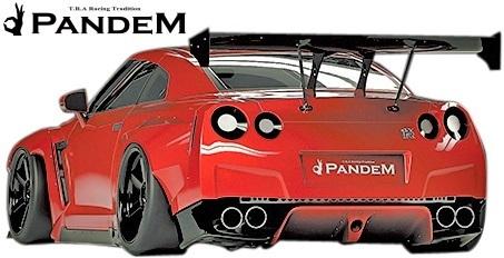 【M's】日産 R35 GT-R PANDEM ワイドボディKIT 9P (GTウイング仕様)//FRP製 TRA京都 パンデム エアロセット GTR オーバーフェンダー_画像4
