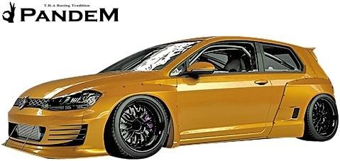 【M's】VW ゴルフ7 5G (2D) PANDEM ワイドボディキット 5点 (F+LS+FF+RF+W)//FRP パンデム エアロパーツ エアロキット ワイドフェンダー_画像2