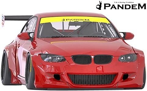 【M's】BMW E92 3シリーズ 前期用(2006y-2010y) PANDEM フロントバンパー+リップ+LIPステイバー 3点セット/FRP TRA京都 パンデム エアロ_画像1
