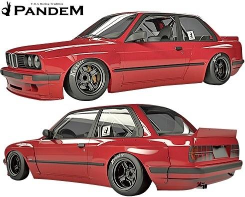 【M's】BMW E30 3シリーズ (2Dクーペ) PANDEM ワイドボディキット 5点 (FL+FF+RF+S+W)//FRP製 TRA京都 パンデム エアロ ワイドフェンダー_画像1