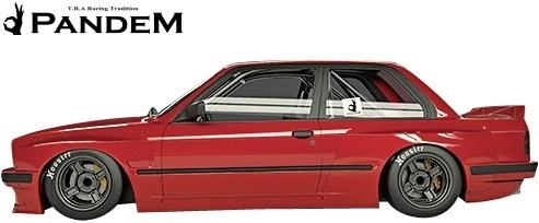 【M's】BMW E30 3シリーズ (2Dクーペ) PANDEM ワイドボディキット 5点 (FL+FF+RF+S+W)//FRP製 TRA京都 パンデム エアロ ワイドフェンダー_画像5