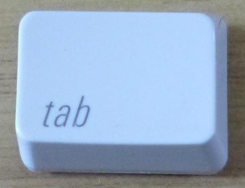 1652 100円~(税別) apple純正 Keyboard A1048 キートップ 「tab」_画像1