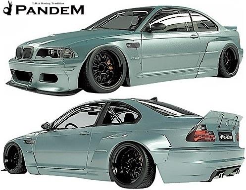 【M's】E46 BMW M3 クーペ (2000y-2006y) PANDEM ワイドボディキット 4点 (FL+LS+FF+RF)//3シリーズ FRP製 TRA京都 パンデム エアロ_画像1