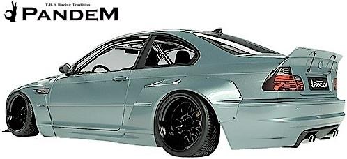 【M's】E46 BMW M3 クーペ (2000y-2006y) PANDEM フロントリップスポイラー+ステー 2点セット//3シリーズ FRP TRA京都 パンデム エアロ_画像4