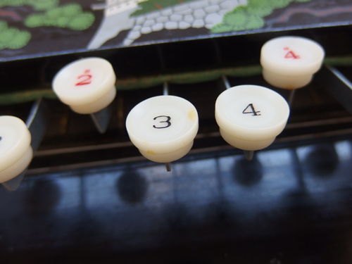 490287s【昭和レトロ 大正琴 NAGOYA HARP】全長66cm程/和楽器/中古品/ジャンク品/経年感強_画像7