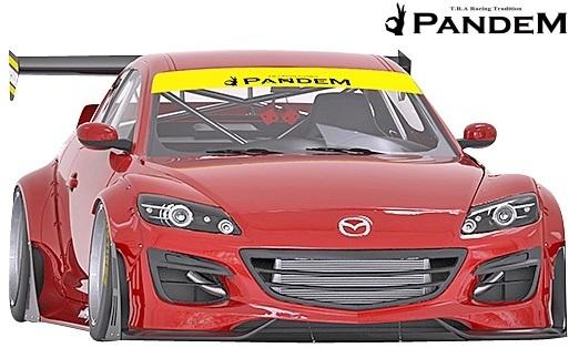 【M's】マツダ MAZDA RX-8 後期 SE3P (2008y-2012y) PANDEM ワイドボディキット 12点//RX8 FRP製 TRA京都 パンデム エアロ フルキット_画像3