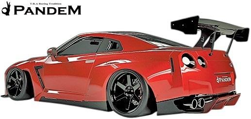 【M's】NISSAN R35 GT-R PANDEM GTウイング//FRP TRA京都 パンデム エアロ 大型ウイング スカイライン GTR ウイング レース_画像2