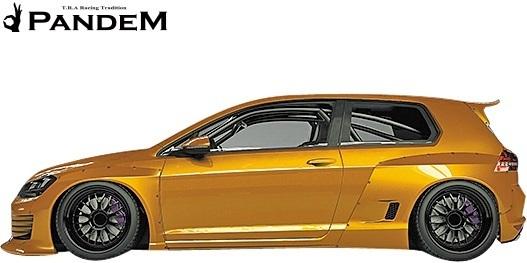 【M's】VW ゴルフ7 5G (2D) PANDEM ワイドボディキット 5点 (F+LS+FF+RF+W)//FRP パンデム エアロパーツ エアロキット ワイドフェンダー_画像4