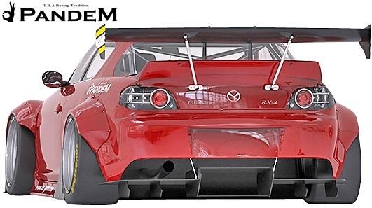 【M's】マツダ RX-8 後期 SE3P (2008y-2012y) PANDEM リアディフューザー//MAZDA RX8 FRP TRA京都 パンデム エアロ リヤディフューザー_画像1