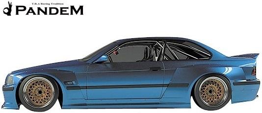 【M's】パンデム BMW E36 3シリーズ クーペ (1990y-2000y) PANDEM ワイドボディキット 3点 (FF+RF+S)//FRP製 TRA京都 エアロ_画像4