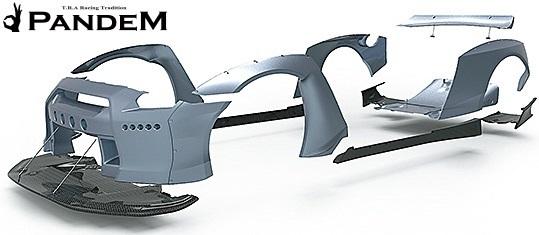 【M's】日産 R35 GT-R PANDEM ワイドボディキット 9P (ダックテールウイング仕様)/CARBON カーボン TRA京都 パンデム エアロ エアロキット_画像5