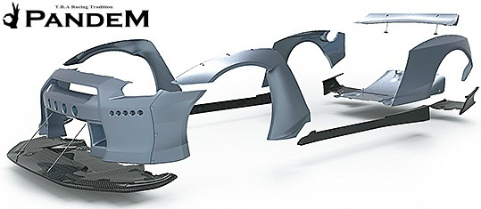 【M's】ニッサン R35 GT-R PANDEM ワイドボディキット 9点 (ダックテールウイング仕様)/CARBON カーボン TRA京都 パンデム フルキット_画像5