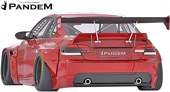 【M's】BMW E92 3シリーズ 前期用(06y-10y) PANDEM エアロ 4点セット (FB+FF+RF+RD)/FRP製 TRA京都 パンデム エアロ オーバーフェンダー_画像3
