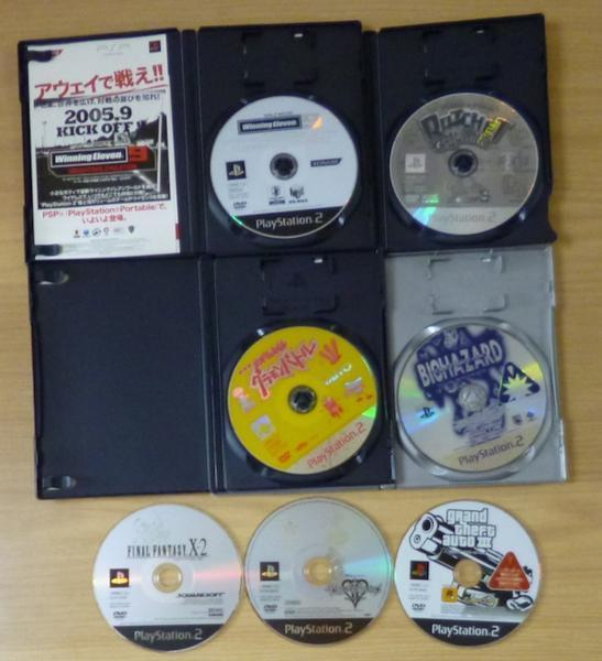 3719 PlayStation2 7タイトル グラモンバトル ラチェット&クランク FF キングダムハーツ ウイニングイレブン バイオハザード_画像3