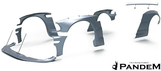 【M's】E46 BMW M3 クーペ (2000y-2006y) PANDEM フロントリップスポイラー+ステー 2点セット//3シリーズ FRP TRA京都 パンデム エアロ_画像6