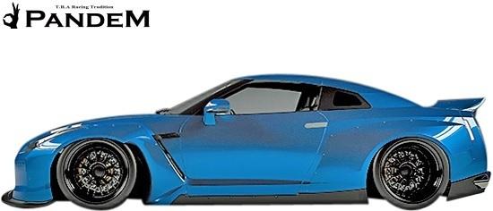 【M's】ニッサン R35 GT-R PANDEM ワイドボディキット 9点 (ダックテールウイング仕様)/CARBON カーボン TRA京都 パンデム フルキット_画像3