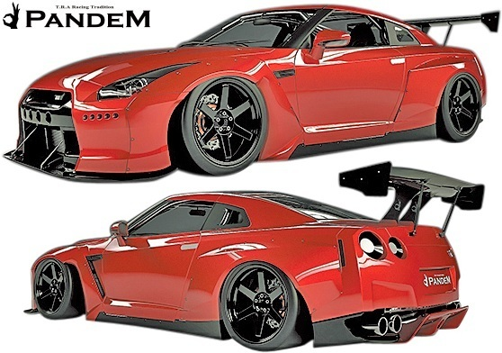 【M's】ニッサン R35 GT-R PANDEM ワイドボディKIT 9P (GTウイング仕様)/CARBON TRA京都 パンデム カーボン フルセット エアロセット_画像2