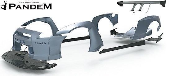 【M's】ニッサン R35 GT-R PANDEM ワイドボディKIT 9P (GTウイング仕様)/CARBON TRA京都 パンデム カーボン フルセット エアロセット_画像5