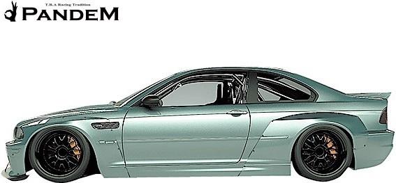 【M's】E46 BMW M3 クーペ (2000y-2006y) PANDEM フロントリップスポイラー+ステー 2点セット//3シリーズ FRP TRA京都 パンデム エアロ_画像3