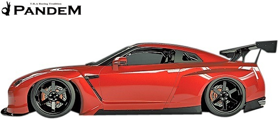 【M's】ニッサン R35 GT-R PANDEM ワイドボディKIT 9P (GTウイング仕様)//FRP製 TRA京都 パンデム エアロセット GTR ワイドフェンダー_画像3