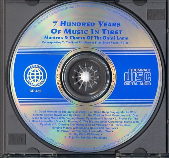 CD☆V.A. / 7 Hundred Years of Music in Tibet: Mantras & Chants of the Dalai Lama / CD 452_画像3