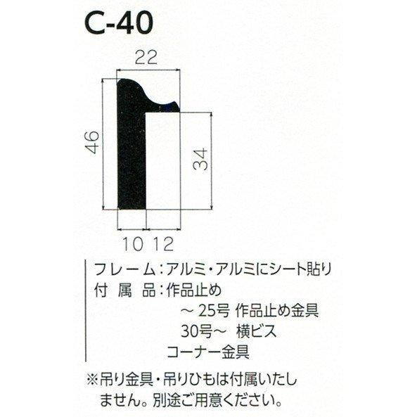 額縁 仮額縁 油絵額縁 油彩額縁 仮縁 アルミフレーム C-40 サイズM15号_画像2