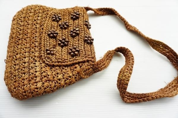 ◆ 60's~70's MADE IN JAPAN 日本製 ショルダーバッグ 茶系/ビンテージ オールド アメリカ古着 レトロ レディース ハンドバッグ 鞄_画像2