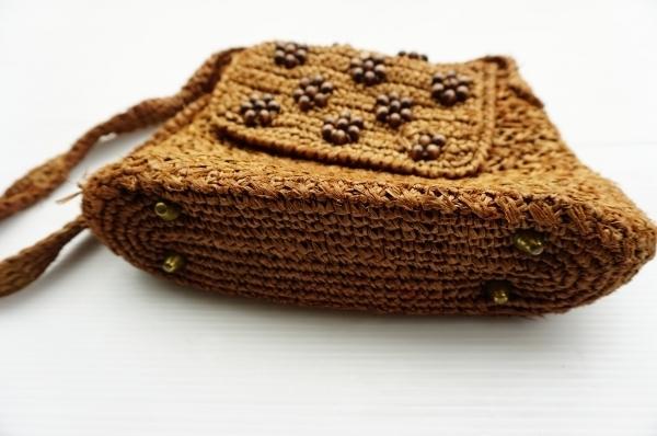 ◆ 60's~70's MADE IN JAPAN 日本製 ショルダーバッグ 茶系/ビンテージ オールド アメリカ古着 レトロ レディース ハンドバッグ 鞄_画像5