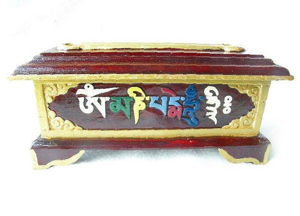 iBN63オムマニペメフムインセンスボックス 香炉香立てチベット_画像1