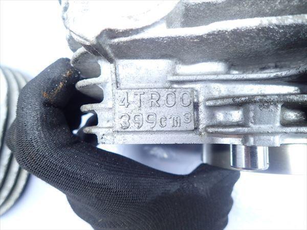 εM28-39 ヤマハ ドラッグスター400 VH01J (H14年式) 走行距離29851㌔ エンジン シリンダー ブロック 前後 内傷有り!_画像2