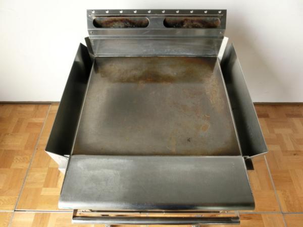 中古厨房 業務用 コメットカトウ グリドル 台付 都市ガス 鉄板焼き お好み焼き 焼きそば CGH-675G W600×D510_画像3