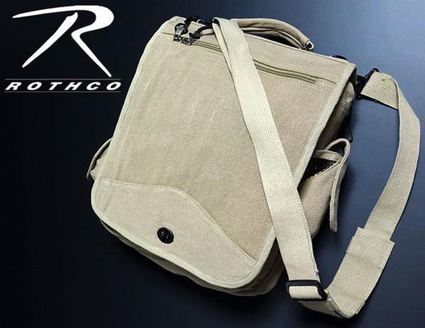 大容量 メンズ ショルダーバッグ ROTHCO ロスコ 社製 M-51エンジニアバッグ / ベージュ 新品_画像1
