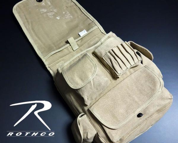 大容量 メンズ ショルダーバッグ ROTHCO ロスコ 社製 M-51エンジニアバッグ / ベージュ 新品_画像3