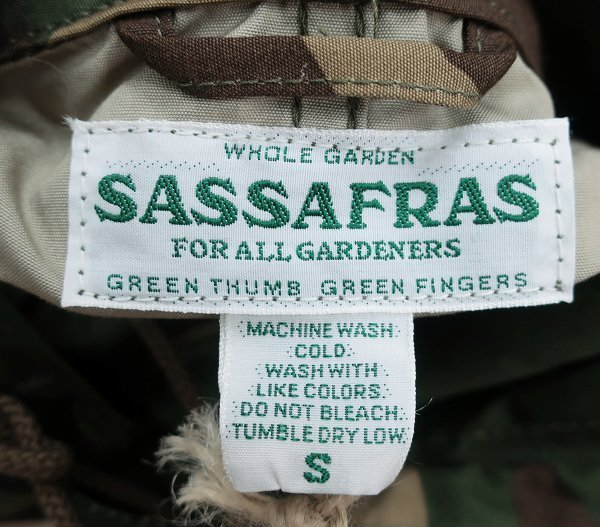 3T7319/新品 ササフラス シードキャリーバドジャケット ウィーズポプリン ウッドランドカモ SASSAFRAS Seeds Carry Bud Jacket WeedsPoplin_画像5