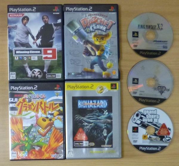 3719 PlayStation2 7タイトル グラモンバトル ラチェット&クランク FF キングダムハーツ ウイニングイレブン バイオハザード_画像1