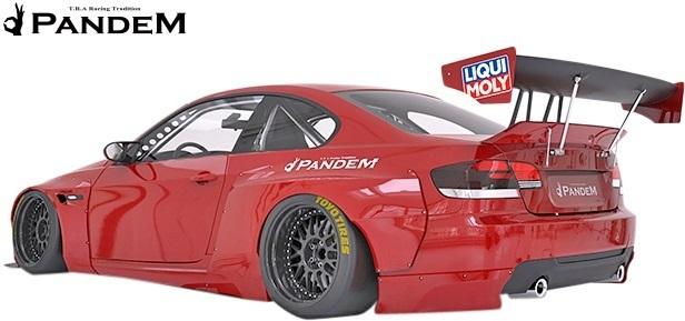 【M's】BMW E92 3シリーズ 前期用(2006y-2010y) PANDEM フロントバンパー+リップ+LIPステイバー 3点セット/FRP TRA京都 パンデム エアロ_画像4