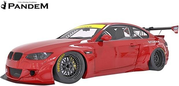 【M's】BMW E92 3シリーズ 前期用(2006y-2010y) PANDEM フロントバンパー+リップ+LIPステイバー 3点セット/FRP TRA京都 パンデム エアロ_画像2