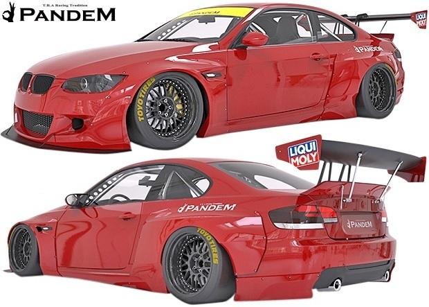 【M's】BMW E92 3シリーズ 前期用(06y-10y) PANDEM エアロ 4点セット (FB+FF+RF+RD)/FRP製 TRA京都 パンデム エアロ オーバーフェンダー_画像1