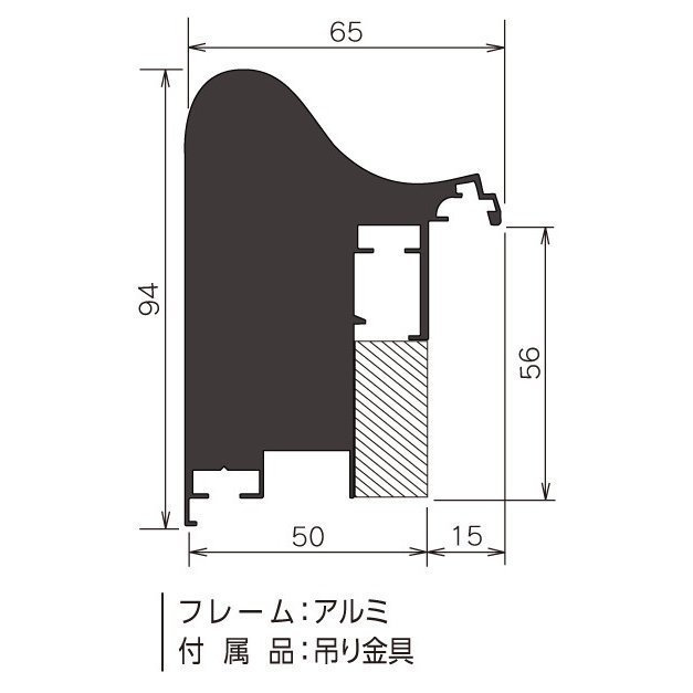 額縁 油絵額縁 油彩額縁 大型縁アルミフレーム D-71 ステン サイズP20号_画像2