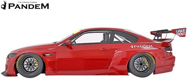 【M's】BMW E92 3シリーズ 前期用(2006y-2010y) PANDEM フロントバンパー+リップ+LIPステイバー 3点セット/FRP TRA京都 パンデム エアロ_画像3
