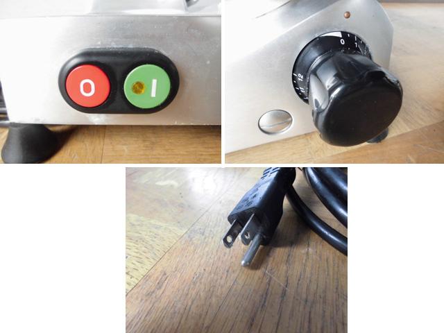 中古厨房 イタリア製 エフエーシー社 電動ハムスライサー 100V W520 2012年製_画像4
