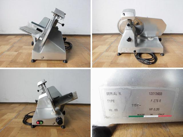 中古厨房 イタリア製 エフエーシー社 電動ハムスライサー 100V W520 2012年製_画像3