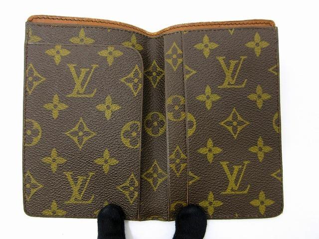 美品 ルイヴィトン ■ モノグラム パスポートカバー PVC レザー フランス製 ヴィンテージ レア 小物 LOUIS VUITTON (65823_画像3