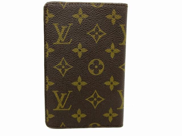 美品 ルイヴィトン ■ モノグラム パスポートカバー PVC レザー フランス製 ヴィンテージ レア 小物 LOUIS VUITTON (65823_画像2