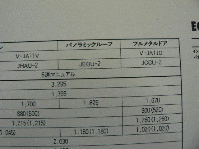 @スズキ カタログ/ジムニー/V-JA11V V-JA11C_画像3